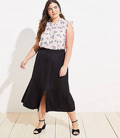 LOFT Plus Pull On Maxi Skirt