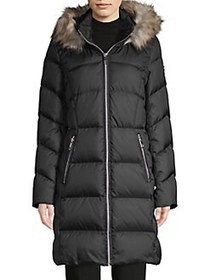 Calvin Klein Faux-Fur Trimmed Quilted Puffer Coat