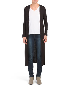 KIM & CAMI Made In Usa Ribbed Duster Cardigan