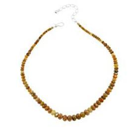 Jay King Sterling Silver Yellow Sapphire Bead Neck