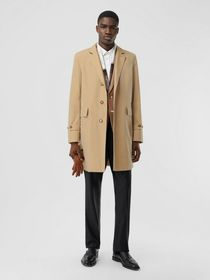 Burberry Cotton Gabardine Lab Coat in Honey