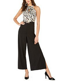 Mixed-Print Halter Jumpsuit, Created For Macy's