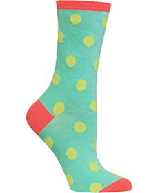 Large Polka Dot Crew Socks