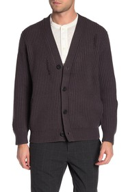 Vince Distressed Ribbed Cardigan