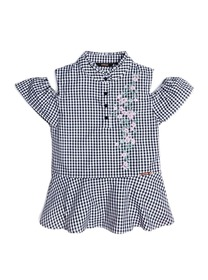Embroidered Gingham Shirt (7-14)