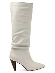 Kensie Kalani Tall Leather Boots IVORY