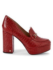 Sam Edelman Aretha Embossed Leather Pumps SPICED R