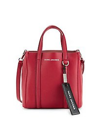 Marc Jacobs Tag Leather Tote Bag CRANBERRY
