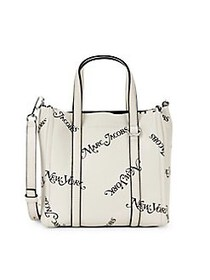 Marc Jacobs Logo Leather Tote PORCELAIN