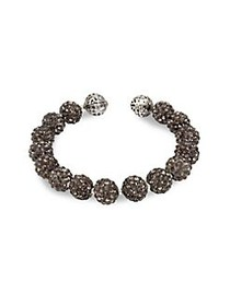 Miriam Haskell Beaded Coil Bracelet SILVER