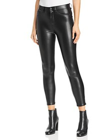 The Kooples - Faux-Leather Mid-Rise Skinny Jeans i