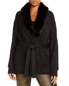 MICHAEL Michael Kors Plus - Faux-Fur-Collar Cardig