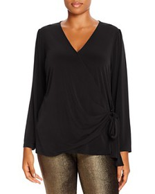 MICHAEL Michael Kors Plus - Faux-Wrap Top