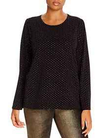 MICHAEL Michael Kors Plus - Flocked-Velvet Top