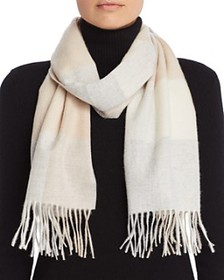 C by Bloomingdale's - Cashmere Plaid Scarf - 100%
