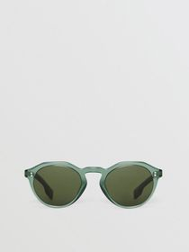 Burberry Keyhole Round Frame Sunglasses in Green