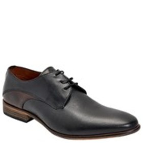 Mens Textured Accent Leather Dress Shoes
