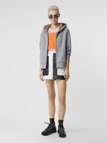 Burberry Vintage Check Detail Jersey Hooded Top in
