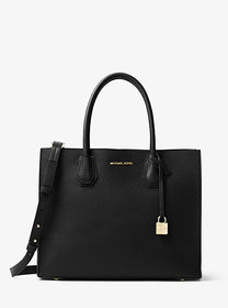 Michael Kors Mercer Large Pebbled Leather Accordio