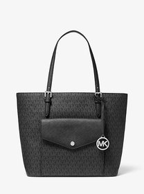 Michael Kors Jet Set Large Logo Pocket Tote Bag