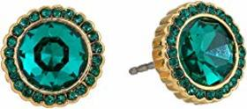 Fossil Emerald Glitz Stud Earrings