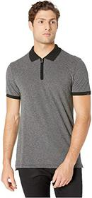 7 For All Mankind Short Sleeve 1/2 Zip Polo