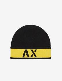 Armani BEANIE WITH CONTRASTING TURN-UP