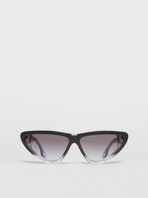 Burberry Gradient Detail Triangular Frame Sunglass