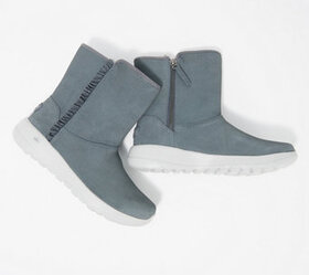 Skechers On-the-Go Suede Ruffle Boots - A370190