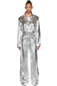 Off-White Silver Racing Loose Jumpsuit