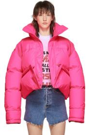 VETEMENTS Pink Down Puffer Jacket