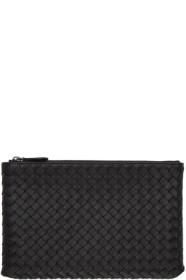 Bottega Veneta Black Intrecciato Medium Pouch