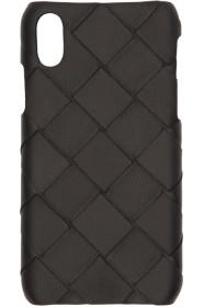 Bottega Veneta Black Max Intrecciato iPhone X/XS C