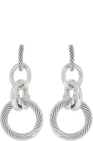 Bottega Veneta Silver Multi Hoop Earrings