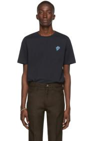 Paul Smith Navy Embroidered Logo T-Shirt
