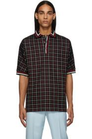 Paul Smith Black & Red Tattersall Check Polo