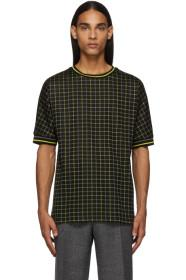 Paul Smith Black & Yellow Tattersal Check T-Shirt