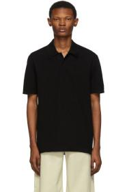 Bottega Veneta Black Piqué Polo