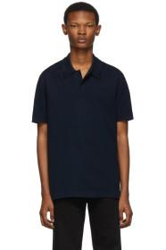 Bottega Veneta Navy Piqué Polo