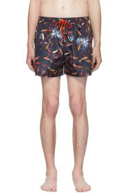 Paul Smith SSENSE Exclusive Navy Goldfish Swim Sho