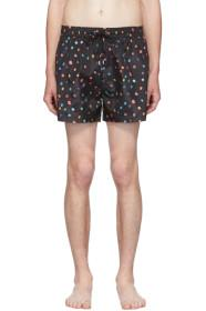 Paul Smith SSENSE Exclusive Black Polka Dot Swim S