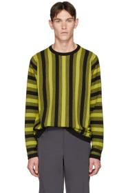 Paul Smith Yellow & Black Vertical Stripe Sweater