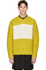 Paul Smith Yellow Oversized Chunky Sweater