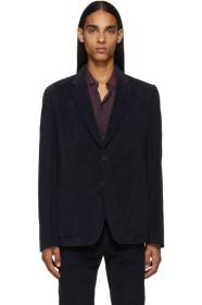 Paul Smith Navy Corduroy Kensington Blazer