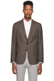Paul Smith Navy & Brown Contrast Plaid Soho Blazer