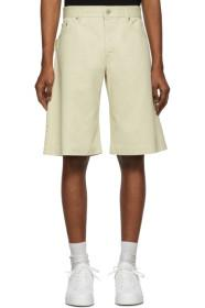 Bottega Veneta Off-White Denim Workwear Shorts