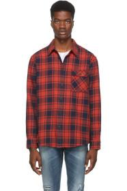 Nudie Jeans Red & Black Flannel Check Sten Shirt
