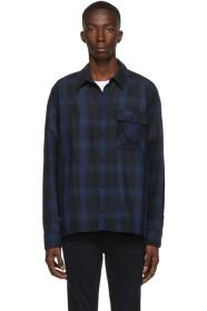 Nudie Jeans Navy Shadow Check Sten Shirt
