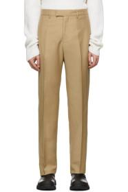 Bottega Veneta Tan Wool Slim Trousers