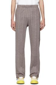 Acne Studios Brown Knit Cotton Trousers